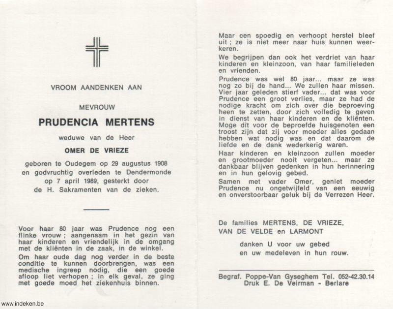 Prudentia Mertens
