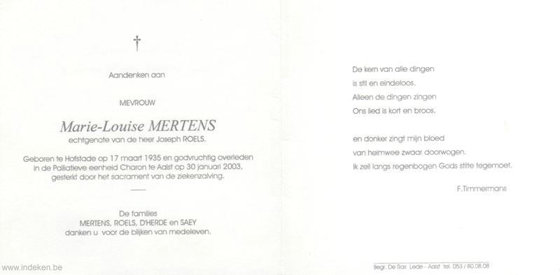 Marie Louise Mertens