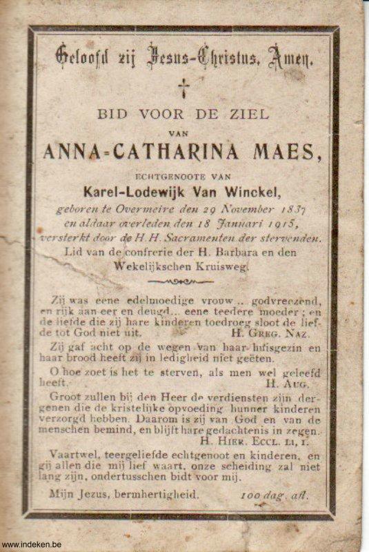 Anna Catharina Maes
