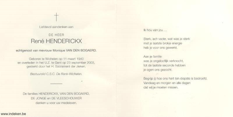 René Henderickx