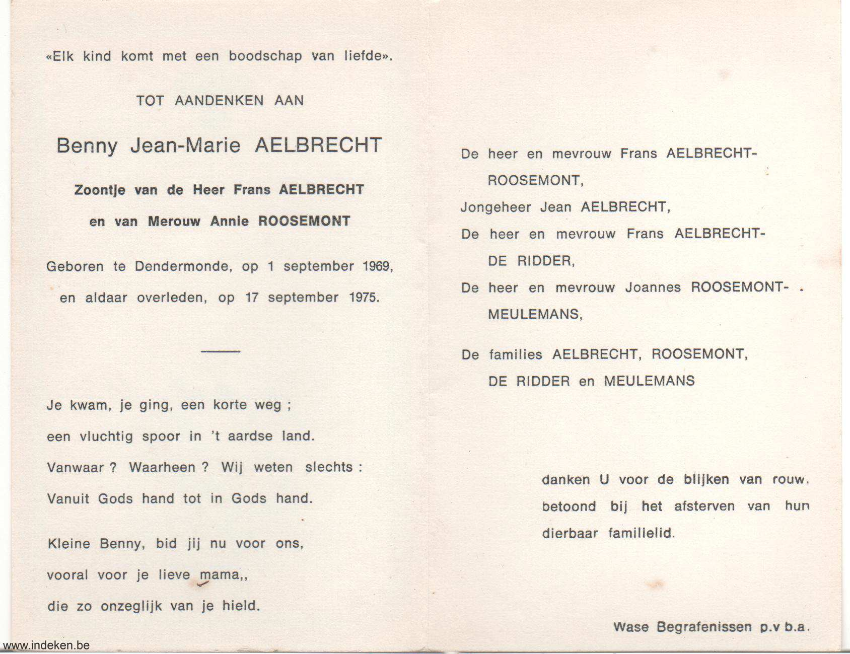 Benny Jean-Marie Aelbrecht