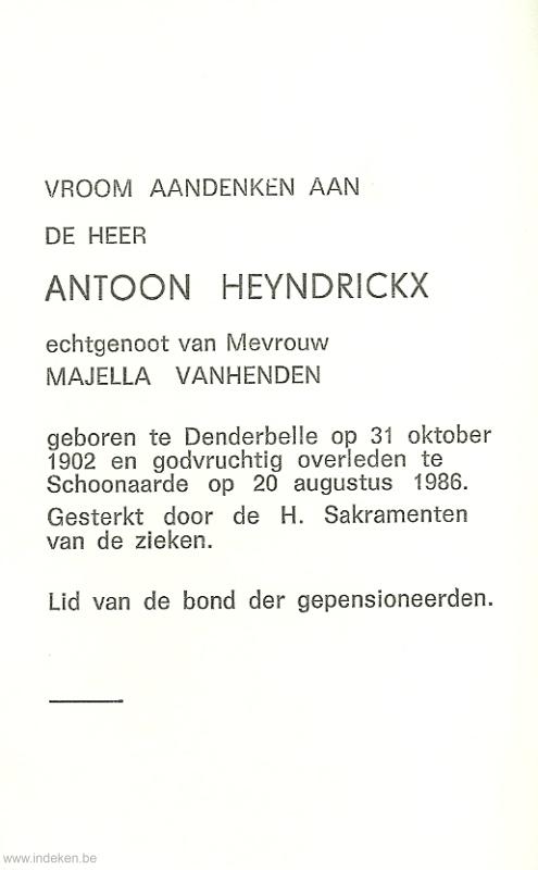 Antoon Willem Heyndrickx