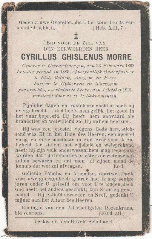 Cyrillus Ghislenus Morre