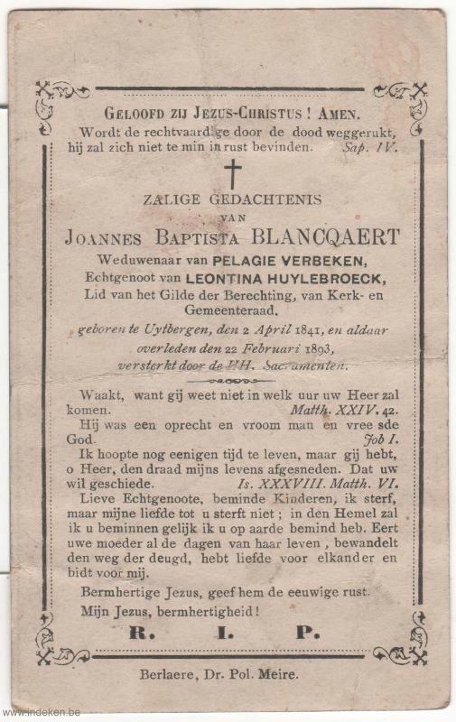Joannes Baptista Blancquaert
