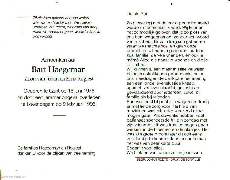 Bart Haegeman