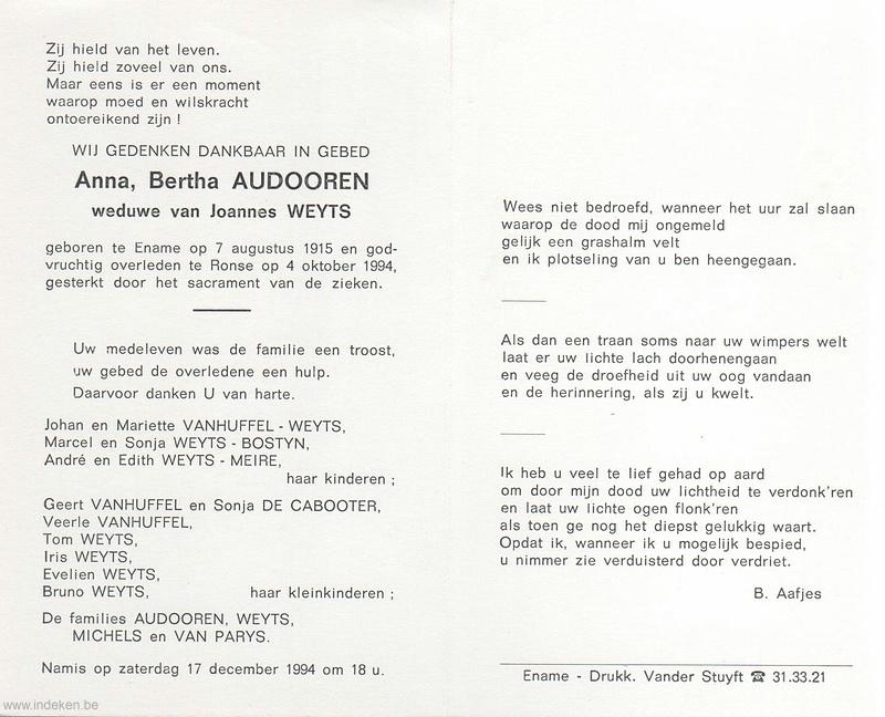 Anna Bertha Audooren