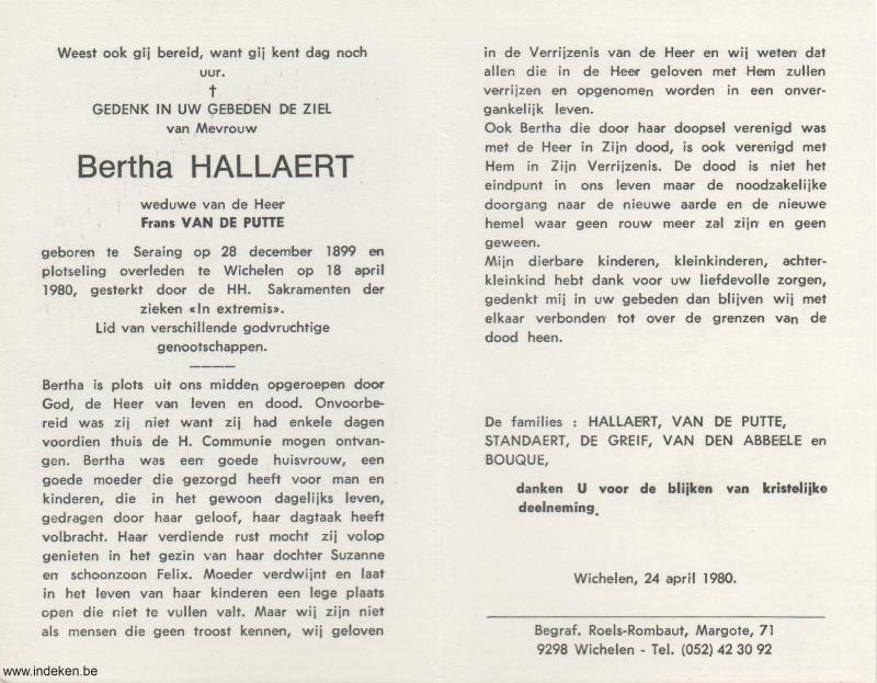 Bertha Hallaert