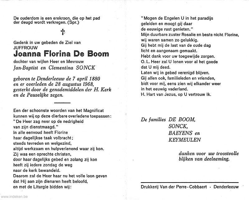 Joanna Florina De Boom