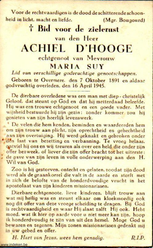 Achiel D Hooge