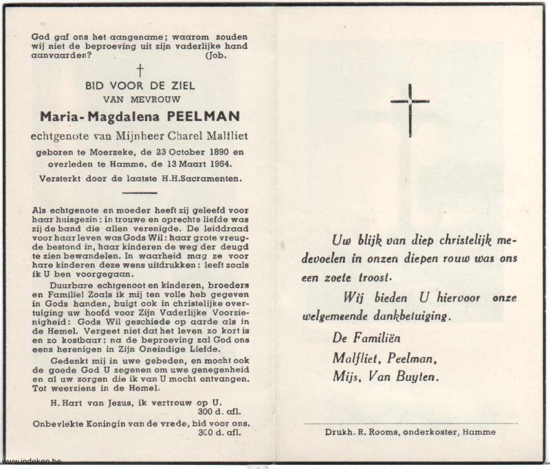 Maria Magdalena Peelman