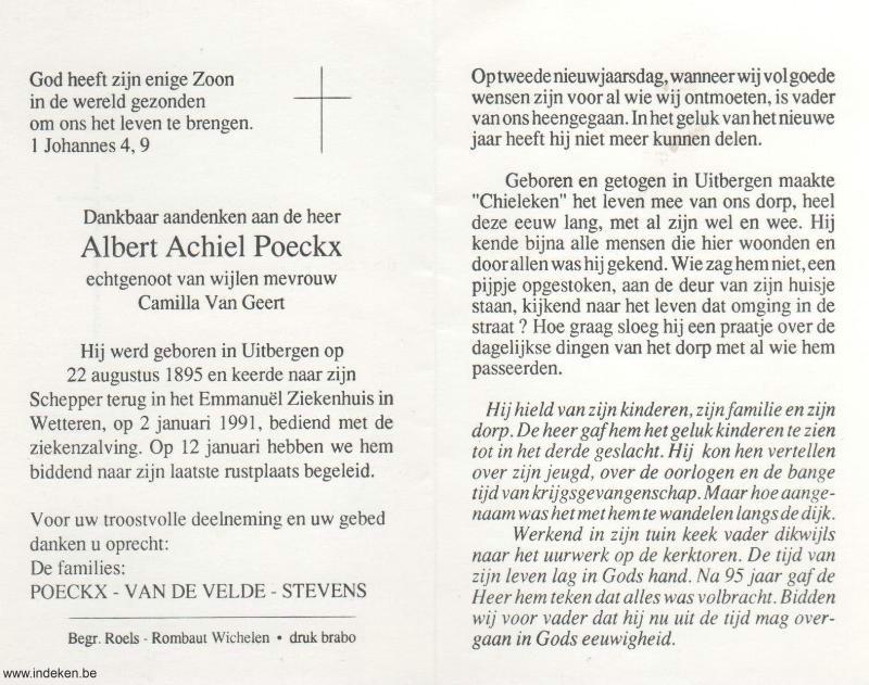 Albert Achiel Poeckx
