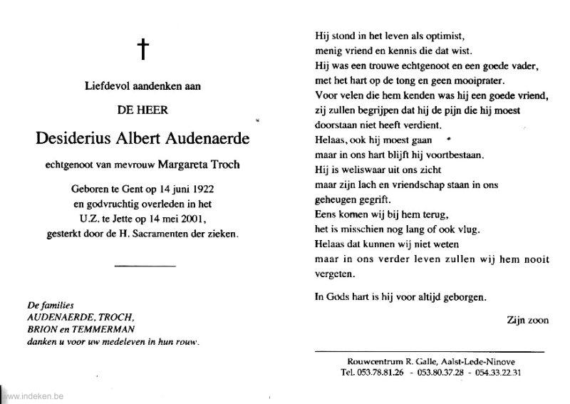 Desiderius Albert Audenaerde