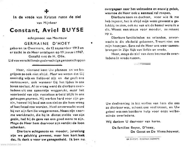 Constant Aviel Buyse