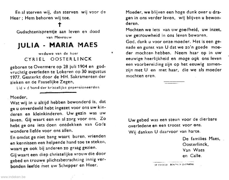Julia Maria Maes