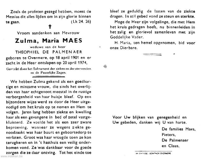 Zulma Maria Maes