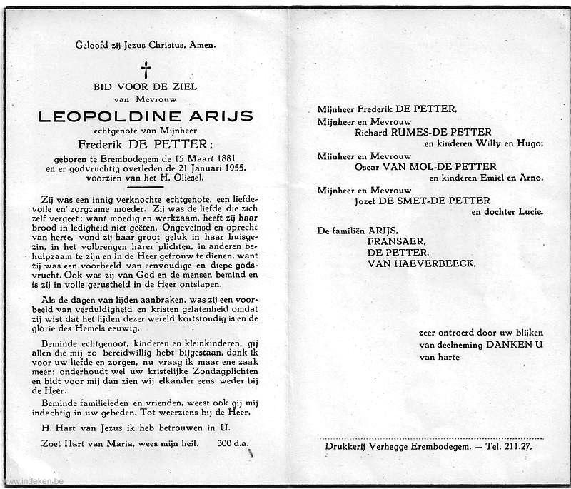 Leopoldine Arijs