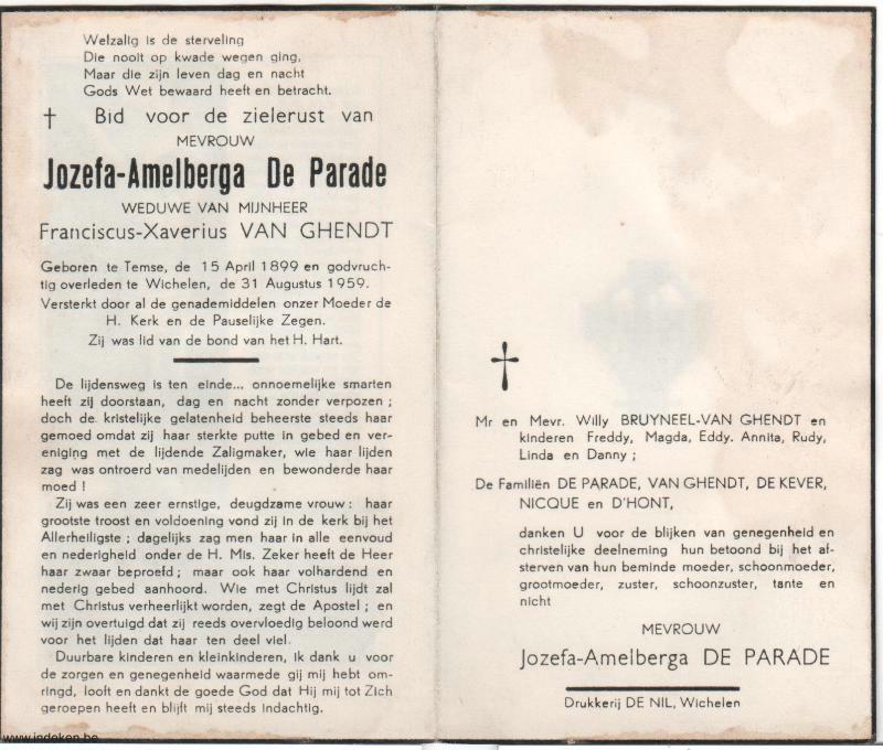Jozefa-Amelberga De Parade