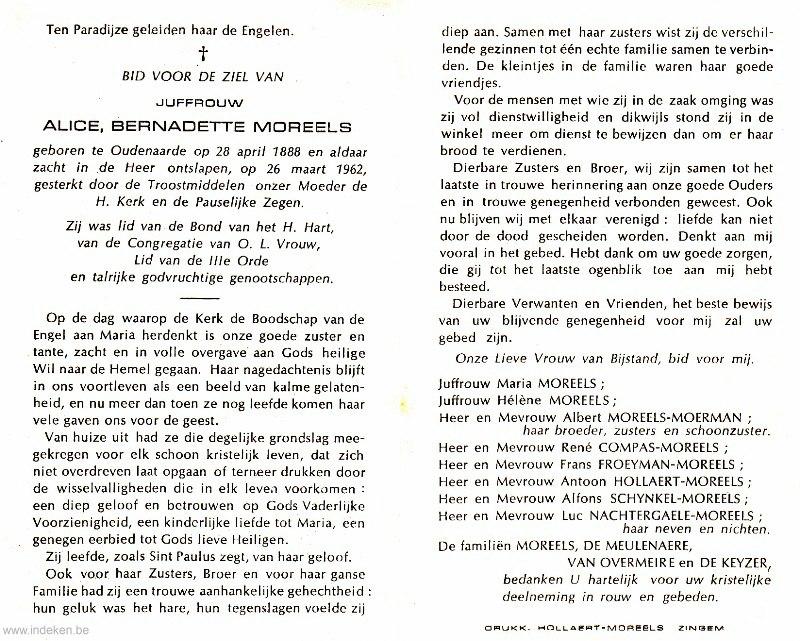 Alice Bernadette Moreels