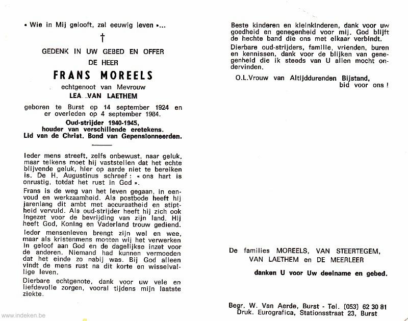 Frans Moreels
