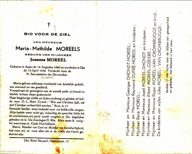 Maria Mathilde Moreels