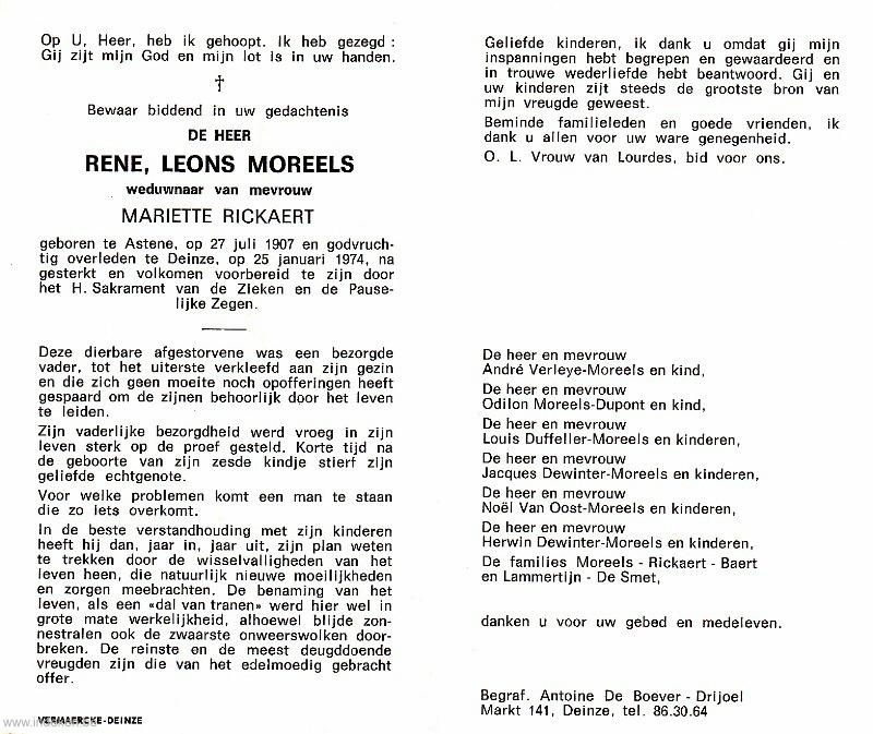 Rene Leons Moreels
