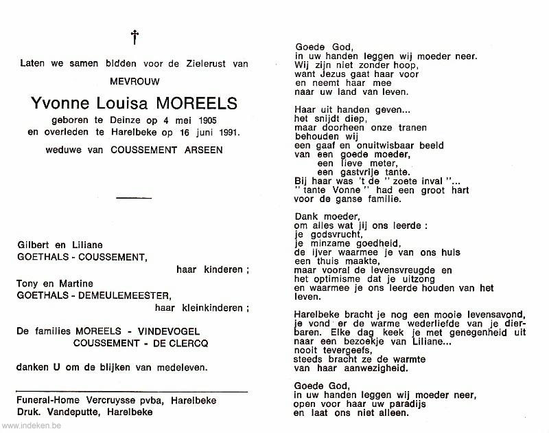 Yvonne Louisa Moreels