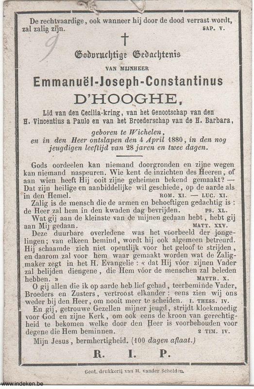 Emmanuël Joseph Constantinus D Hooghe