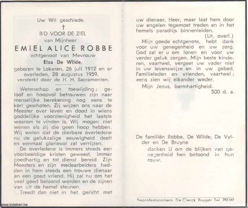 Emiel Alice Robbe
