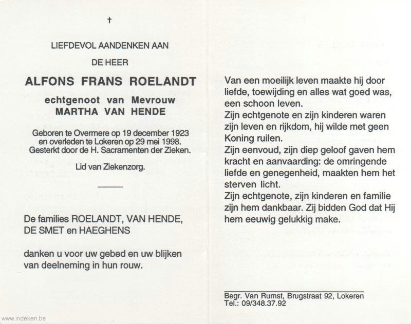 Alfons Frans Roelandt