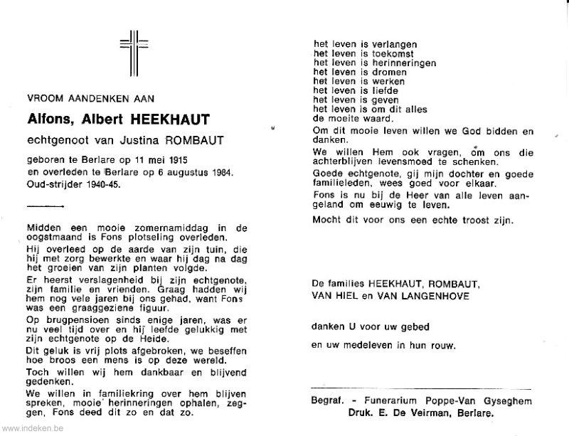 Alfons Albert Heekhaut