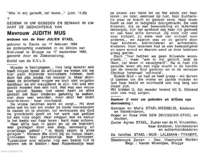 Judith Margaretha Mus