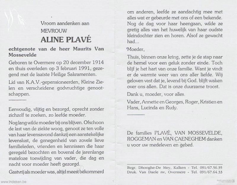 Aline Plavé
