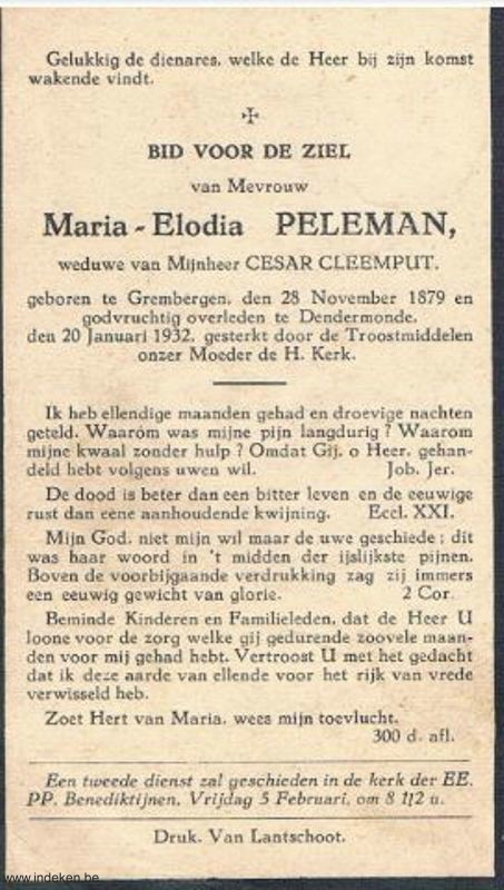 Maria Elodia Peleman