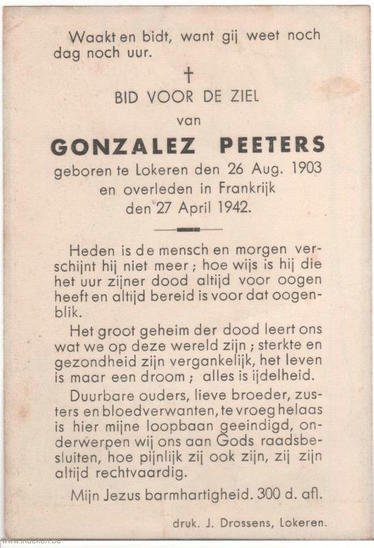Gonzalez Peeters