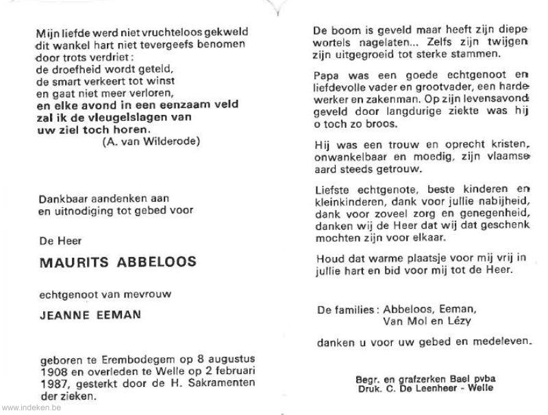 Maurits Abbeloos