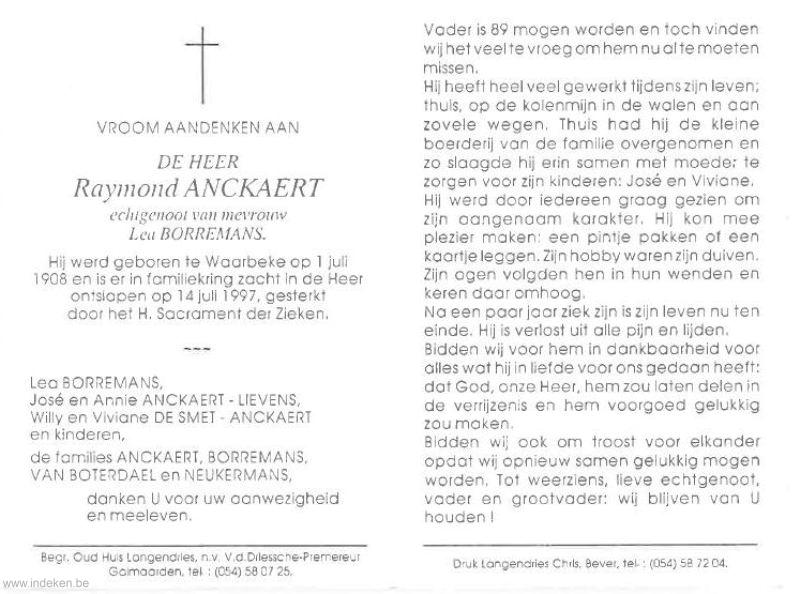 Raymond Anckaert