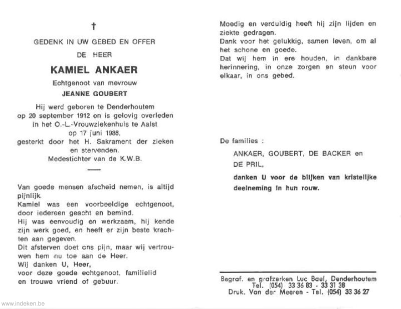 Kamiel Ankaer