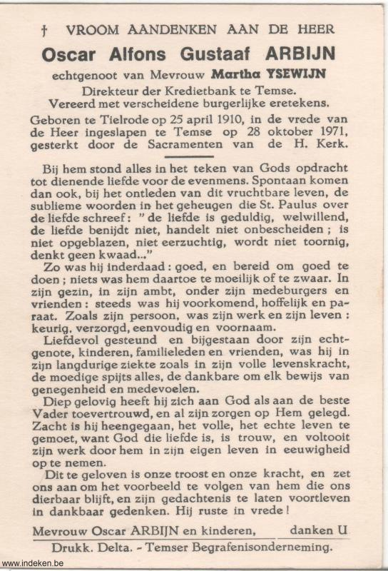 Oscar Alfons Gustaaf Arbijn