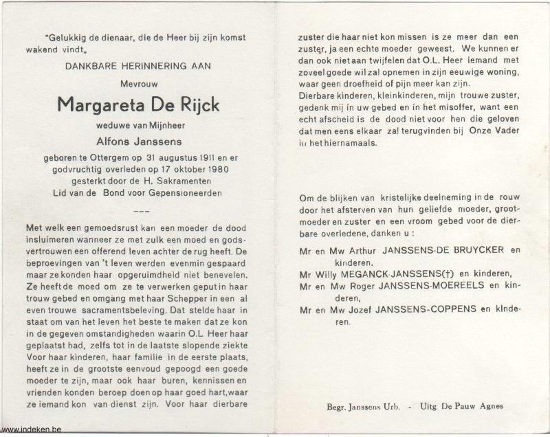 Margareta Eveline De Rijck
