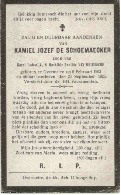 Kamiel Jozef De Schoemaecker