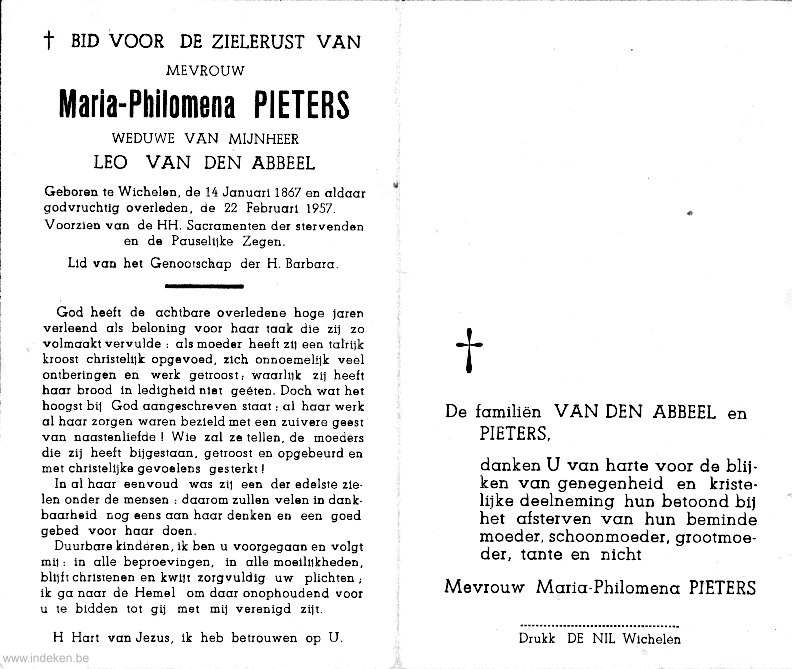 Maria Philomena Pieters