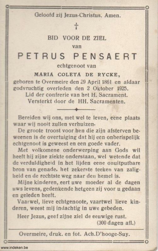 Petrus Franciscus Pensaert