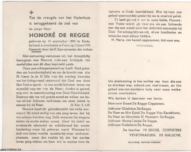 Honoré De Regge