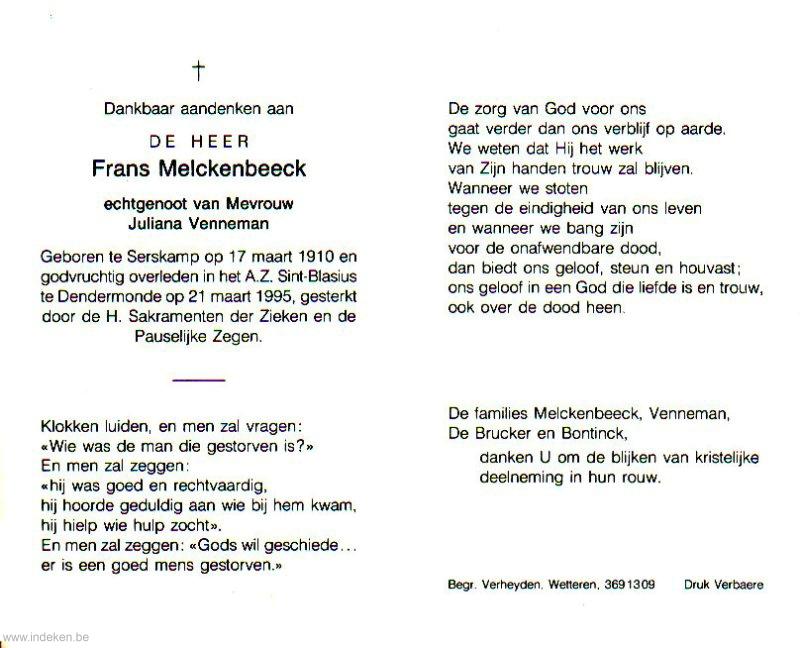Frans Melckenbeeck