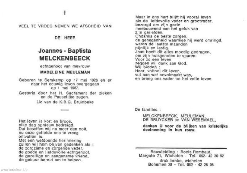 Joannes Baptista Melckenbeeck
