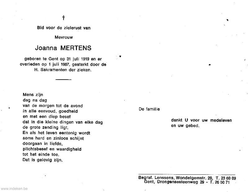 Joanna Mertens