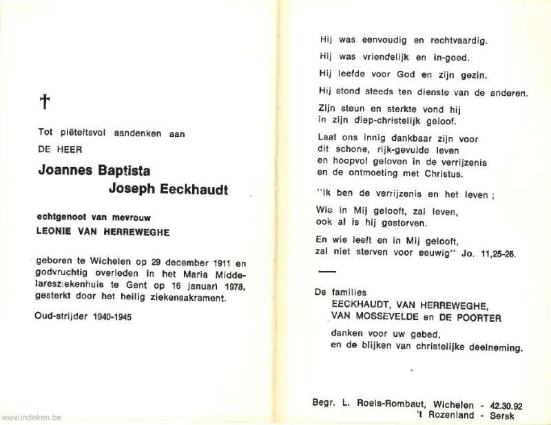 Joannes Baptista Joseph Eeckhaudt