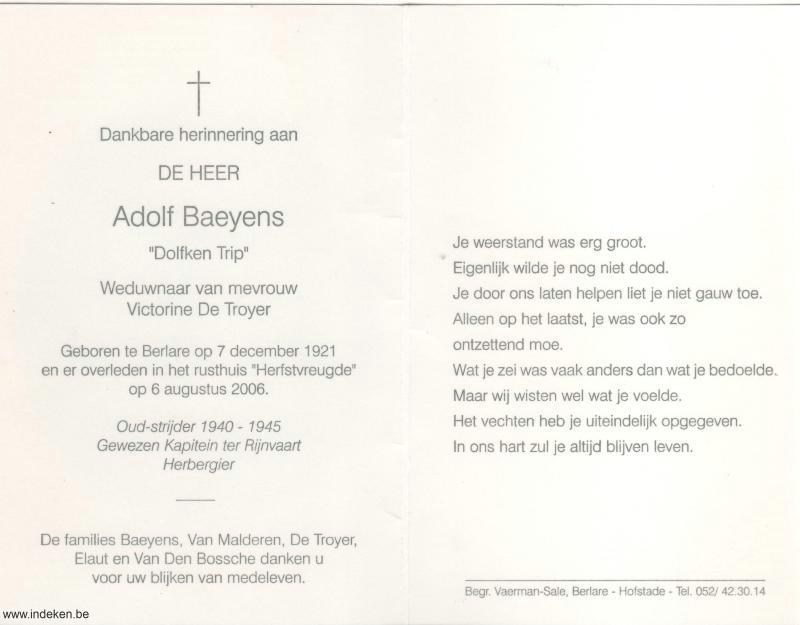 Adolf Baeyens
