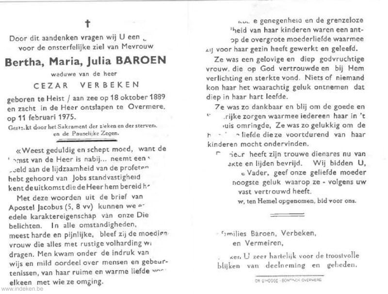 Bertha Maria Julia Baroen