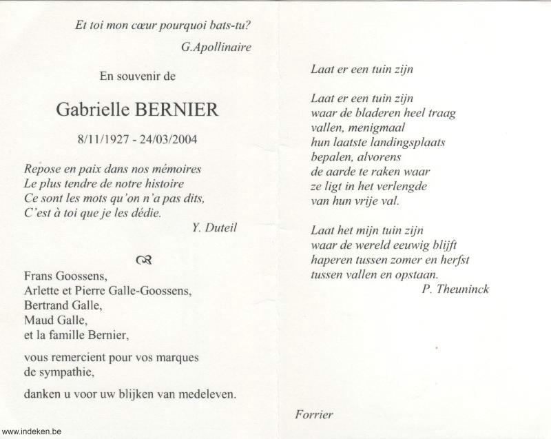 Gabrielle Bernier
